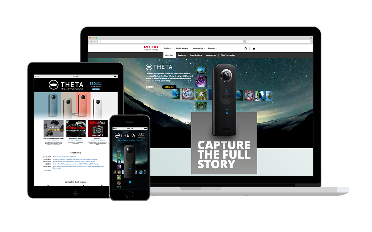 We gave the Ricoh THETA product content a boost